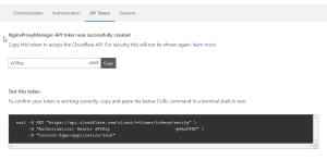 Copy your API