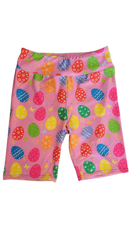 Easter Pink Yoga Band Printed Bike Shorts