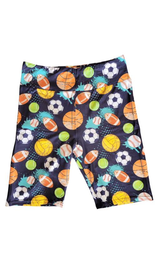 Ball Sports Yoga Band Printed Bike Shorts