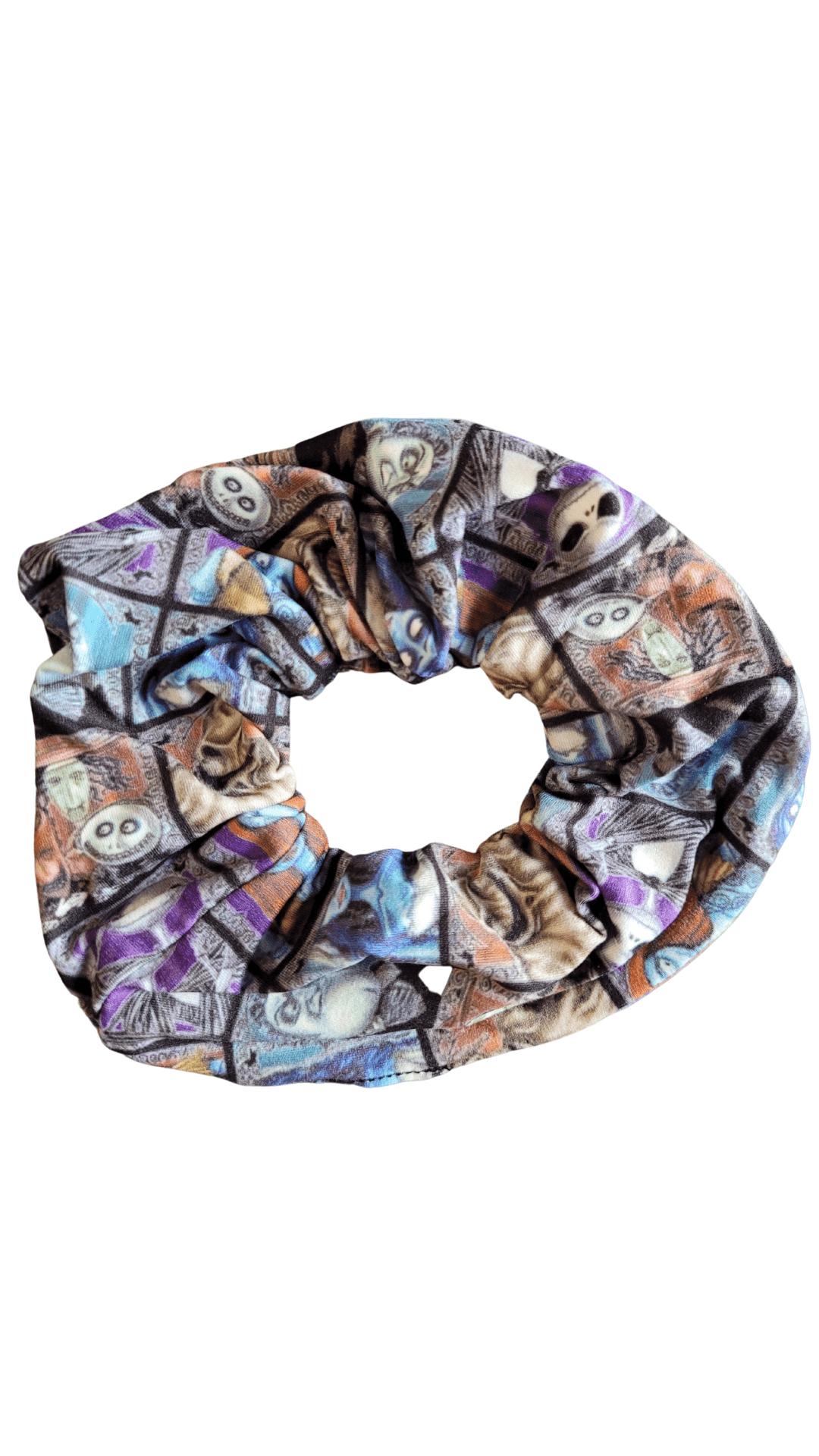 Nightmare Mosaic Printed Scrunchie