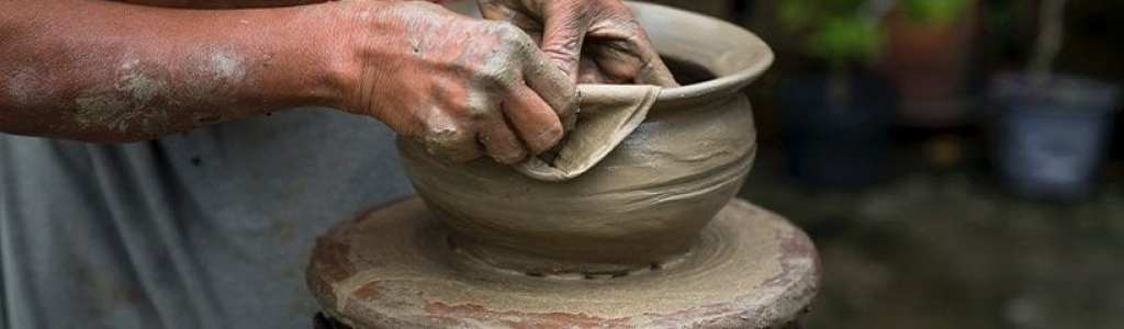 Woman Crafting Pottery