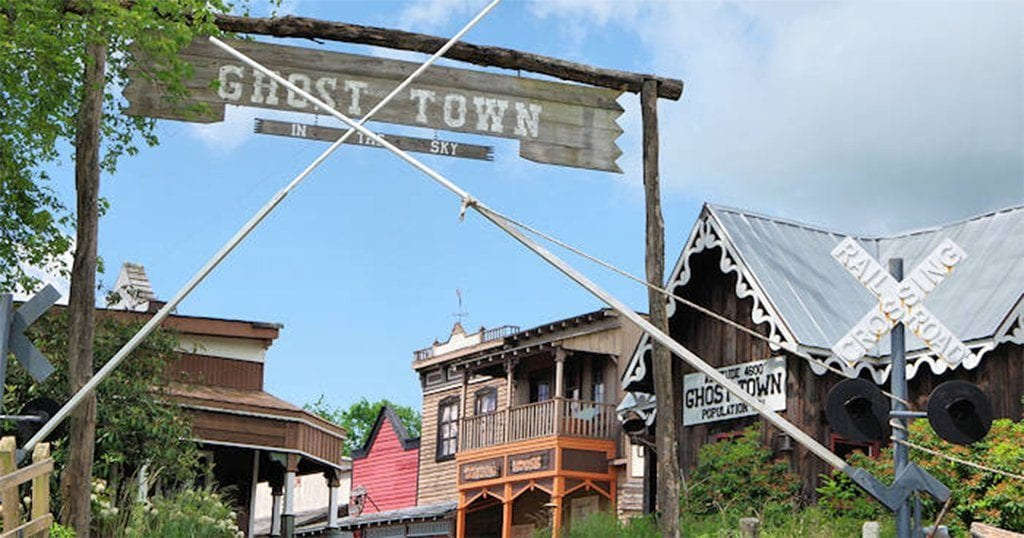 Maggie Valley's Ghost Town in the Sky remains abandoned today (photo courtesy of RomanticAsheville.com)