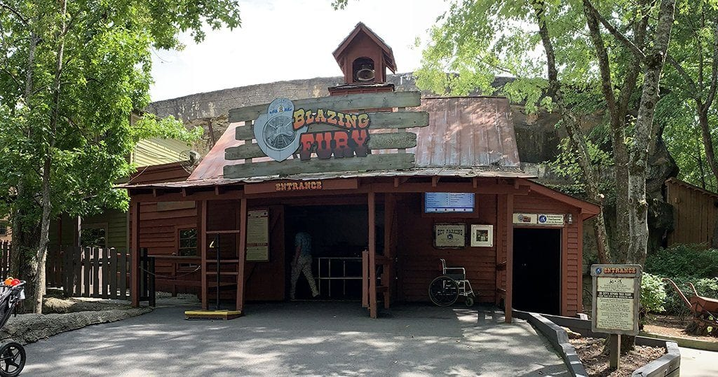 The best ride at Dollywood: Blazing Fury