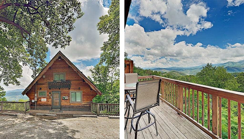In the Smokies, it's har to find unobstructed views like these for less than $200 per night (photos courtesy of VRBO)