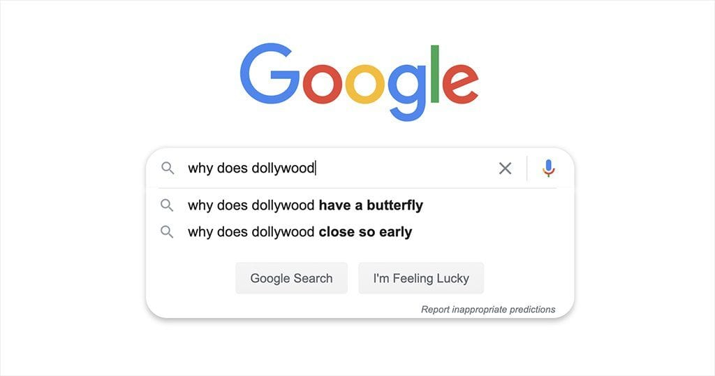 The following questions came from Google's Autocomplete feature (screenshot by Google)