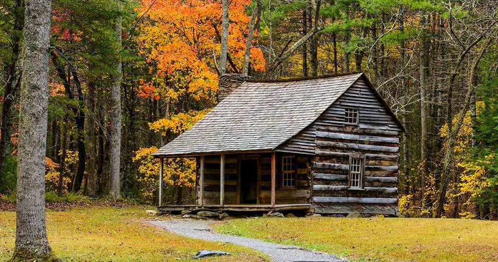 Carter Shields Cabin in Cades Cove in the Great Smoky Mountains National Park (stock photo)