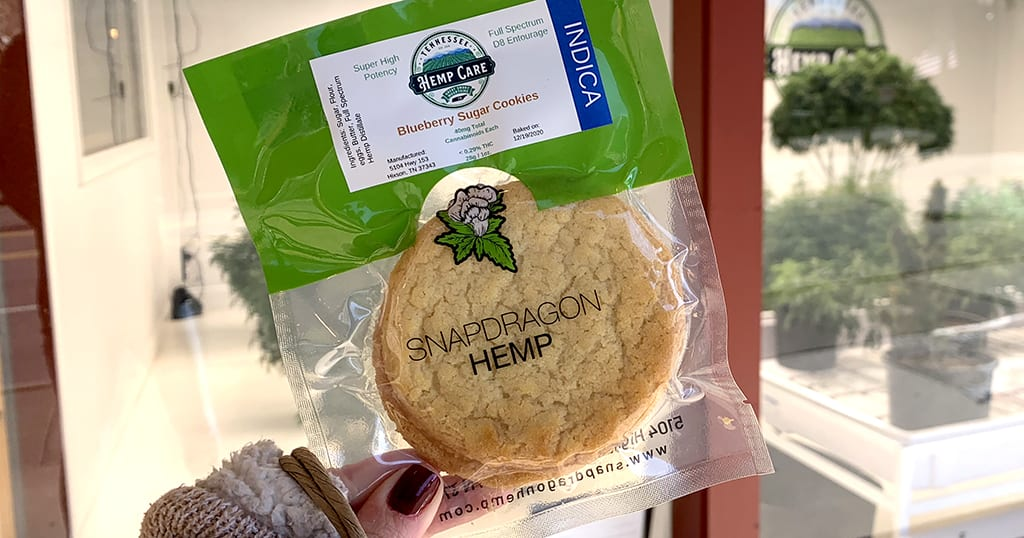 Edibles are also available at Tennessee Hemp Care in downtown Gatlinburg (photo by Morgan Overholt)