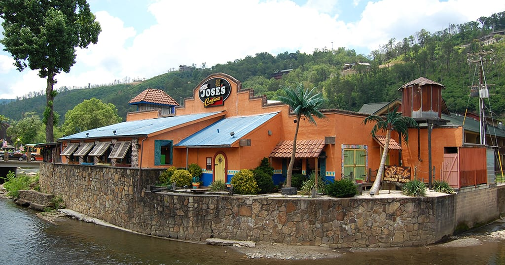 No Way Jose's is located in (across from Anakeesta and Ripley's Aquarium) downtown Gatlinburg and is within walking distance of most major Gatlinburg attractions (photo by Morgan Overholt/TheSmokies.com)
