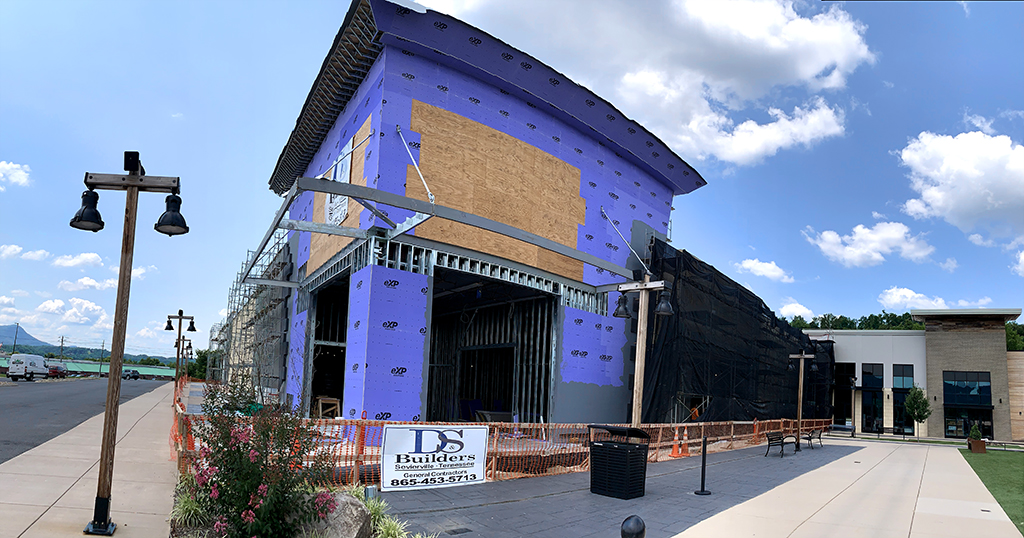 Construction is currently underway at the Mountain Mile where Guy Fieri's Flavortown is expected to open late 2021