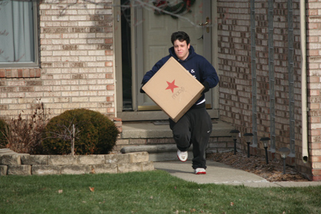 Duo Of Dopey Package Thieves Caught In Act By Vigilant