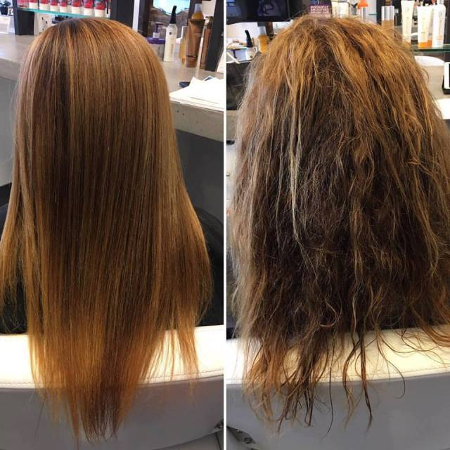 difference between a brazilian blowout and a keratin treatment