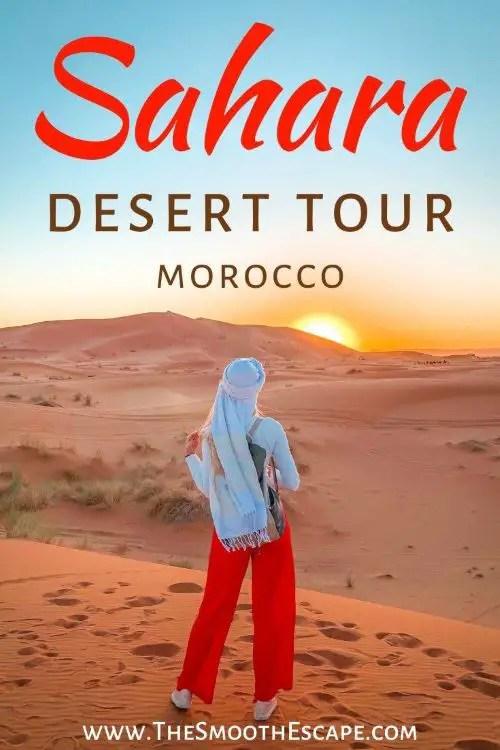 Sunset in Moroccan Sahara