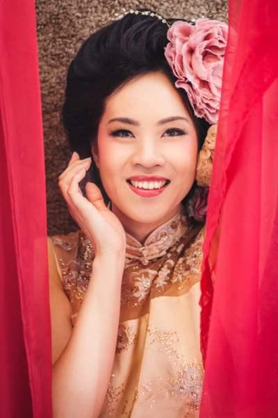 British Born Chinese Actress Julie Cheung Inhin in The Snapshot Cafe Studio