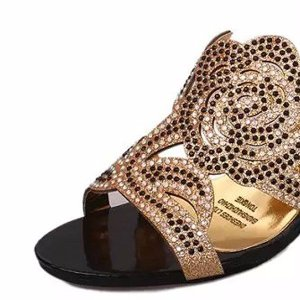 Floral Rhinestone Beaded Slippers Online