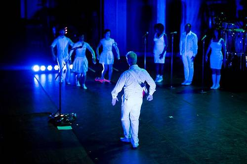 David Byrne at Benaroya Hall, Seattle, photo