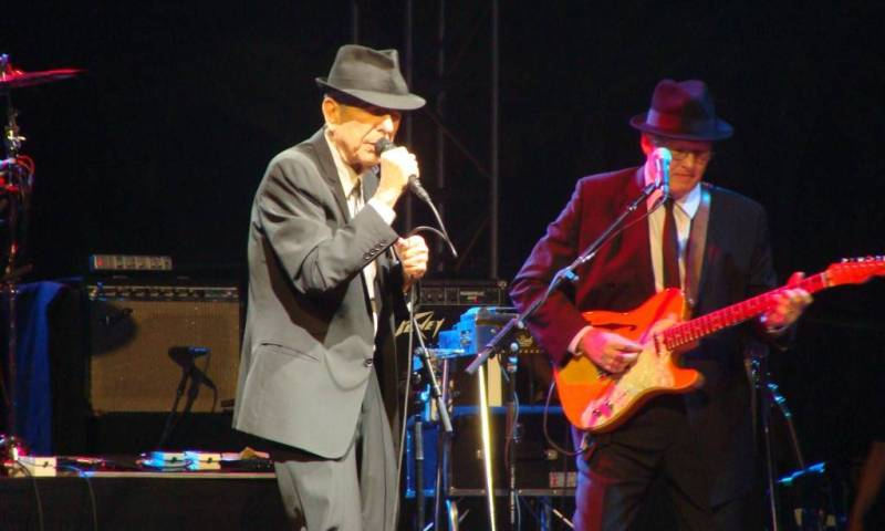 Leonard Cohen at Coachella photo