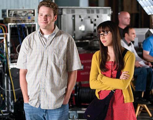 Seth Rogen and Aubrey Plaza in Funny People