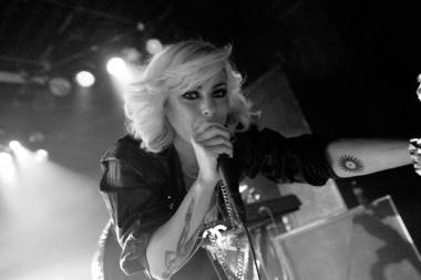 Maja Ivarsson with The Sounds at the Commodore Ballroom, Vancouver Oct 26 2009. Melissa Skoda photo