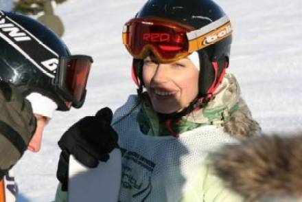 Jessica Pare at the Whistler Film Festival Ski Challenge. Jason Whyte photo