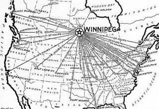 Winnipeg—the centre of North America.