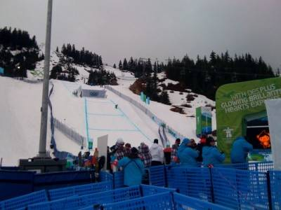 Womens sbx now practicing looking good for 12 noon start