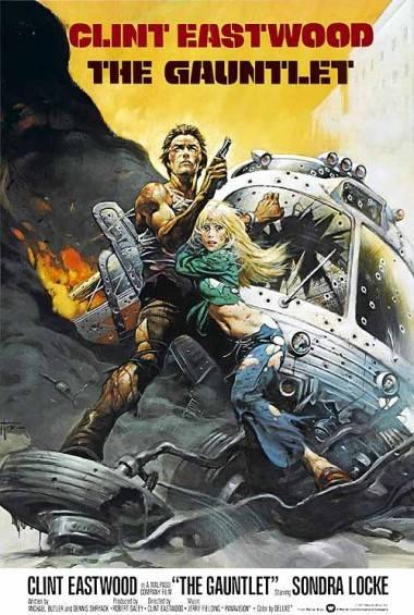 The Gauntlet (1977) movie poster by Frank Frazetta.