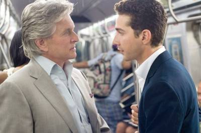 Michael Douglas and, uhm, that actor who's not Tobey McGuire, from Wall Street: Money Never Sleeps.
