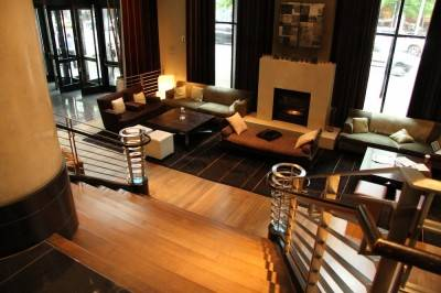 """The """"living room"""" of the W Hotel Seattle. Robyn Hanson photo."""
