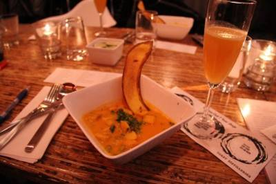 Jamaican fish soup at The Refinery, Vancouver, Nov 24 2010. Robyn Hanson photo