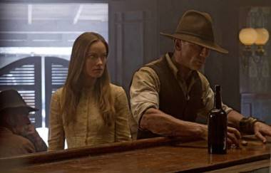 Olivia Wilde with Daniel Craig in Cowboys & Aliens.
