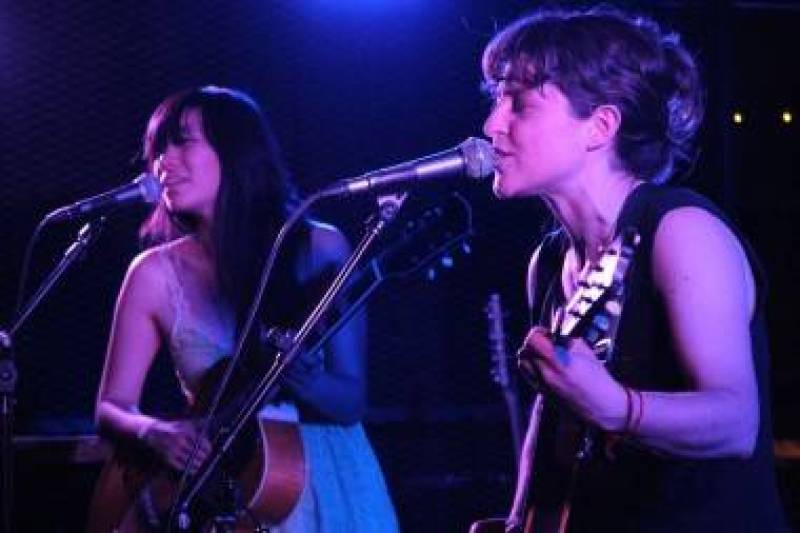 Thao Nguyen and Mirah Zeitlyn at the Biltmore Cabaret, Vancouver, May 5 2011. Robyn Hanson photo