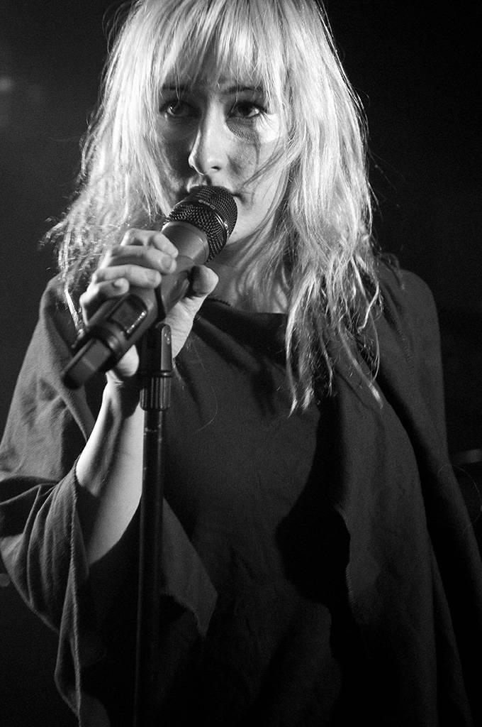 Zola Jesus, aka Nika Danilova, at the Biltmore Cabaret, Vancouver, May 3 2011. Ashley Tanasiycuk photo