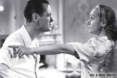 Robert Montgomery and Carole Lombard in Mr. and Mrs. Smith (1941)