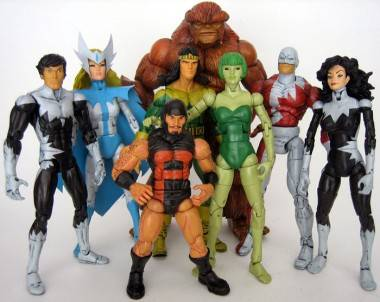 Alpha Flight action figures.