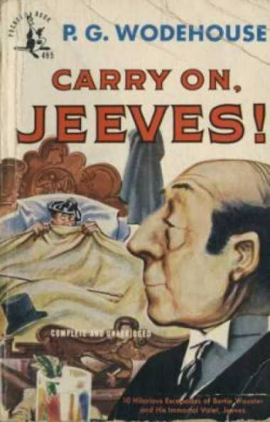 Carry on Jeeves by PG Wodehouse book cover.