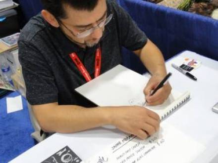Love and Rockets artist/writer Jaime Hernandez at the 2011 San Diego Comic-Con July 22 2011.