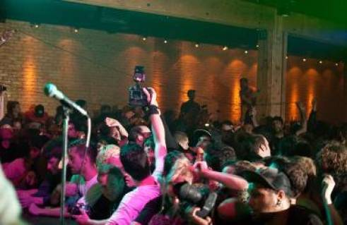 Fucked Up at Fortune Sound Club, Vancouver, Juliy 20 2011. Ashley Tanasiychuk photo