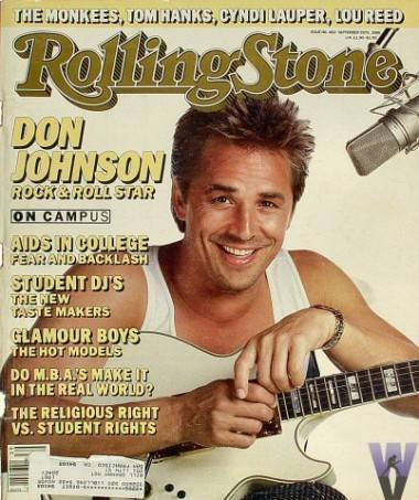 Rolling Stone cover featuring Don Johnson.