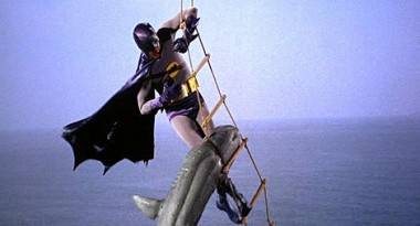 Batman and Shark from Batman movie (1966).