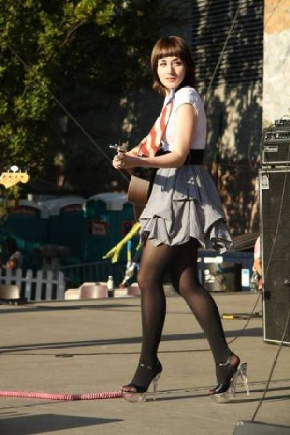 Jessica Lea Mayfield at Bumbershoot, Seattle, Sept 4 2011. Robyn Hanson photo