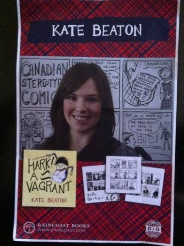 Kate Beaton autographed poster