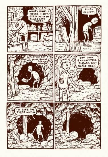 Brian Ralph art from graphic novel Daybreak.