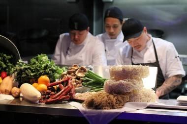 Chefs at Chinois restaurant photo