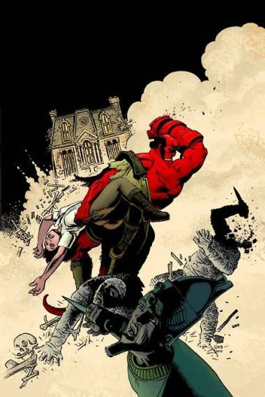 Hellboy art by Richard Corben.