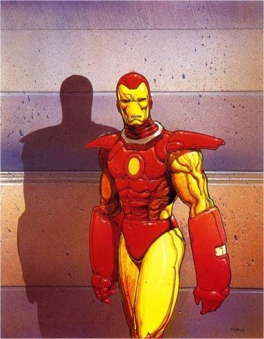 Iron Man illustration by Moebius.