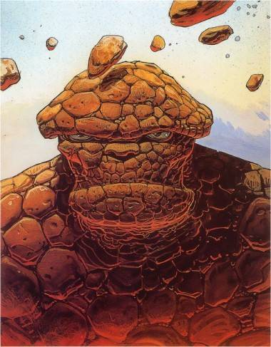 Marvel Comics' The Thing by Moebius.