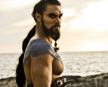 Jason Momoa as Khal Drogo in Game of Thrones photo