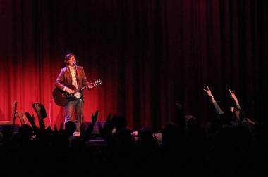 John Darnielle in Vancouver concert photo