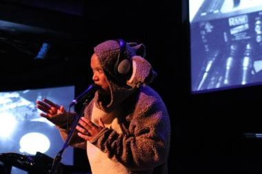 Kid Koala in koala costume photo