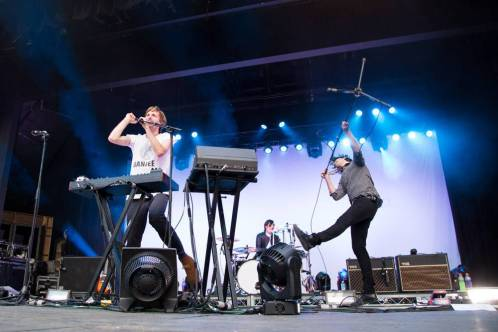 Cut Copy at the Malkin Bowl, Vancouver, May 23 2014. Kirk Chantraine photo.